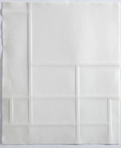 """Cecilia Walton, """"Composição com vermelho, amarelo e azul"""", 2013 . Papel em alto relevo . 55x55 cm"""