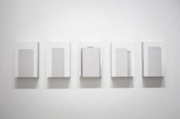 Ivan Padovani - Campo Cego #05, 2014. Fotografia digital, impressão em papel de algodão sobre composto de cimento e celulose, 150 x 40 cm