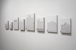 Ivan Padovani - Campo Cego #02, 2014. Fotografia digital, impressão em papel de algodão sobre composto de cimento e celulose, 300 x 58 cm