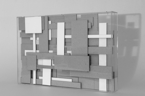 Ivan Padovani - Complexo, 2015. papelão roller, papel de algodão e acrílico, 41 x 28 x 6 cm