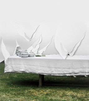 "Julia Kater . ""Juillet"", 2011 . recorte de fotografia impressa em papel algodão . 190 x 180 cm"