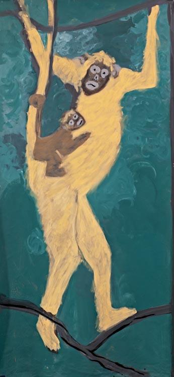 Rosa Barreiros . Sem título, 2010 . acrílica sobre tela . 150 x 80 cm