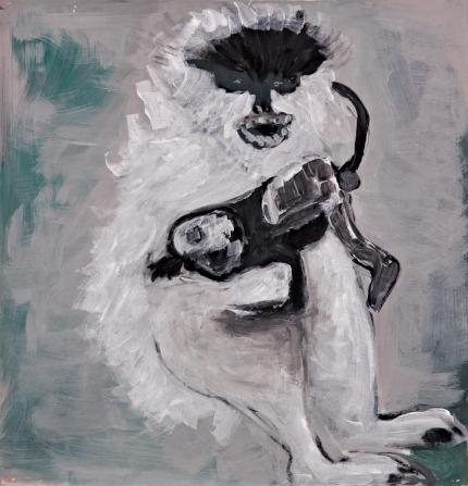 Rosa Barreiros . Filho do Diabo, 2010 . acrílica sobre tela . 80 x 80 cm
