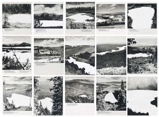 """Laura Gorski, """"Interstício"""", 2013 . Guache sobre página de livro .19 X 21,5cm e 19 X 25,5cm"""