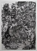 Camilo Meneghetti, Sem Título, 2013. Carvão e grafite sobre papel. 96 x 66 cm