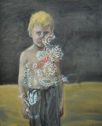 "Ludovic Thiriez . ""Enfant 1"", 2012 . óleo sobre tela . 50 x 60 cm"