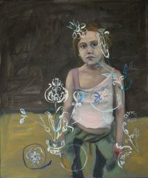"Ludovic Thiriez . ""Enfant 4"", 2012 . óleo sobre tela . 50 x 60 cm"