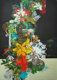 """Ludovic Thiriez . """"Prologue 1"""", 2012 . óleo e acrílica sobre tela . 100 x 140 cm"""