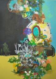 """Ludovic Thiriez . """"Prologue 2"""", 2012 . óleo e acrílica sobre tela . 100 x 140 cm"""