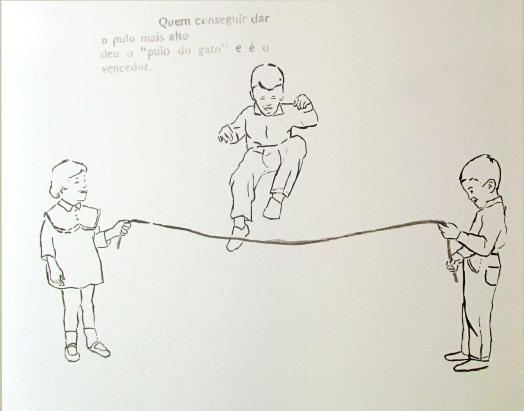 """Marcelo Amorim . """"O pulo do gato"""", 2013 . acrílica sobre papel . 40 x 50 cm"""