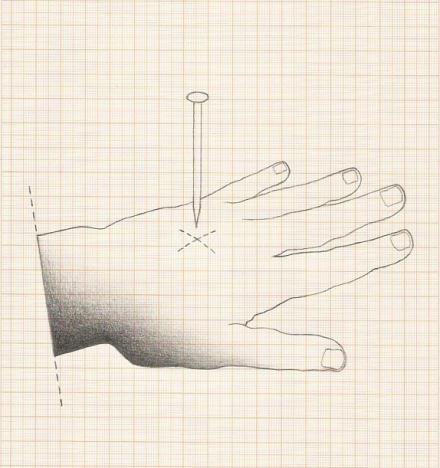 """Jorde Medeiros . """"Decreto I"""", 2013, Desenho em grafite sobre papel milimetrado"""