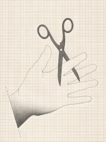 """Jorde Medeiros . """"Decreto II"""", 2013, Desenho em grafite sobre papel milimetrado"""