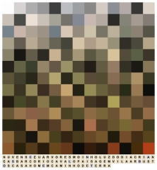 Jorge Medeiros . Flatford Mill, série ''Decifrações'', 2015. Impressão sobre papel algodão. 43,5 x 40 cm
