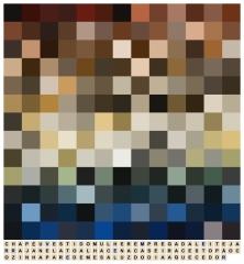 Jorge Medeiros . The Milkmaid, série ''Decifrações'', 2015. Impressão sobre papel algodão. 43,5 x 40 cm