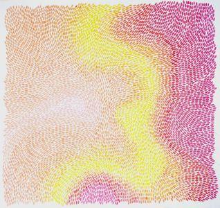 """Livia Paola Gorresio . """"EXE 1.0"""". 2011 . nanquim e lápis grafite s/ papel. 1,50 x 1,45 m"""