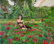 """Diana Motta . """"Se Houver Um Anjo Sobre Ela"""", 2012. Óleo sobre tela, 60 x 72 cm"""