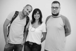 Flávio Cerqueira, Deolinda Aguiar e Diego Castro