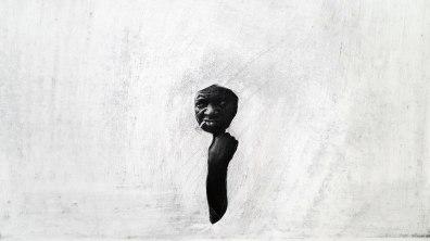 Thiago Navas, Da força, 2016 - 2017. Série Desnudamentos. Página de livro lixada. 10x15cm