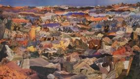 """Diana Motta . """"Montanhas de Pedra I"""", 2013 . colagem . 70 x 100 cm"""