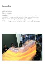 """Deolinda Aguiar . """"Boite invaliden"""" , 2011 . instalação . Imagem impressa em papel algodão dobrada para ser manuseada pelo público . 180 x 250 cm"""