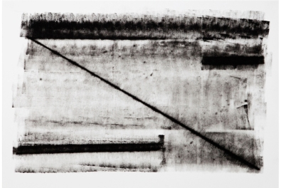Fernanda Carvalho . Sem título 02, 2013 . série: Vestígio . monotipia-frotagem, tinta óleo sobre papel . 70 x 100 cm