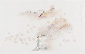 Susy Miranda Aziz, Sem título, 2013. Acrílica, carvão e cera sobre papel arroz. 44 x 70 cm