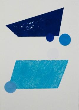 Alice Quaresma . Study B #12, 2014 . Série: Study B . Desenho no papel Canson com caneta colorida e adesivo . 18 x 13 cm