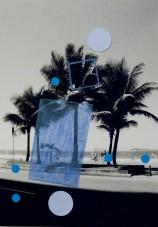 Alice Quaresma . Nest #18, 2014 . Série: Nest . Lápis e adesivo colorido sobre fotografia . 18 x 13 cm