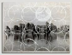 Cida Junqueira, Pantanal IV, 2014, acrílica sobre papel fotográfico em apropriação de foto, 88 X 66 cm