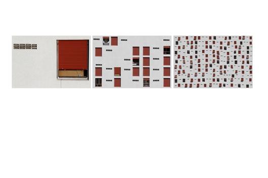 """Marcelo Costa, Sem título, (tríptico 2), 2012. Série: """"Janelas"""". Fotografias impressas em jato de tinta sobre papel de algodão. 38,5 x 58 cm cada"""