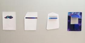 "Thiago Toes . ""All that I see"", 2015 . Tinta acrílica e recortes sobre papel hahnemühle 300g . 23x30,5 cm"