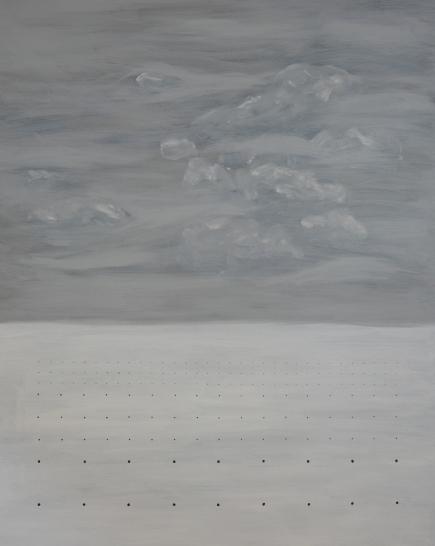Carlos Medina, #003, 2015. Série: Horizontes & Constelações. Acrílico e caneta sobre tela. 100x80cm. Participou da 1ª Exposição do Programa de Exposições, MARP, Ribeirão Preto, SP, 2016