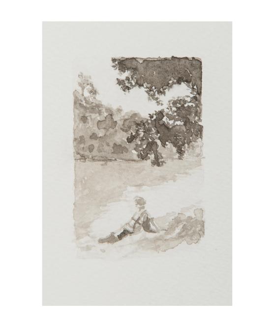 Miriam Bratfisch Santiago, série Holiday, 2016. Aquarela sobre papel. Detalhe. 89 x 100 cm