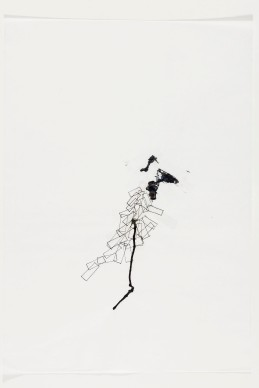 Vanessa Cazzoli. Sem título, 2014. Papel, caneta colorida, nanquim e fita adesiva. 42 x 30 cm. Foto Ding Musa