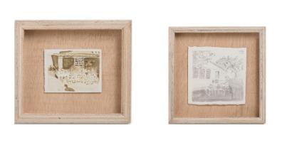 Miriam Bratfisch Santiago, série Home Sweet Home, 2016. Aquarela sobre papel. Detalhe. 21,5 x 21,5 cm e 15 x 17,5 cm
