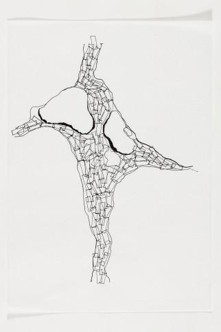 Vanessa Cazzoli. Sem título, 2014. Nanquim e papel. 30 x 21 cm. Foto Ding Musa