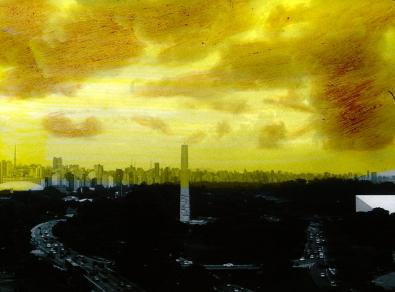 """Fernanda Pessoa, Estações, 2014. Pintura sobre película 35mm PB, finalizado em 16mm. Exposição """"Estações"""", 18o Cultura Inglesa Festival"""