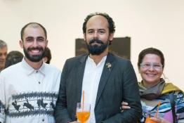 Pedro Gallego, Marcelo Amorim e Simone Cupello