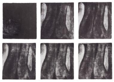 Simone Moraes Marcas, 2013. Impressão jato de tinta sobre papel Hahnemuhle, 9 x (10 x 15 cm), políptico