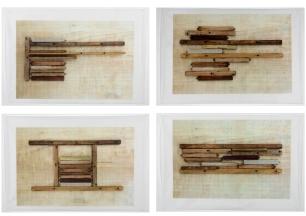 Brisa Noronha, Escadeira, 2014. Impressão digital em papel de arroz. 60 x 80 cm cada