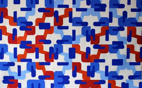 "Fabiana Preti . ""Vermelho"", 2015 . acrílica sobre tela, 160 x 100 cm"