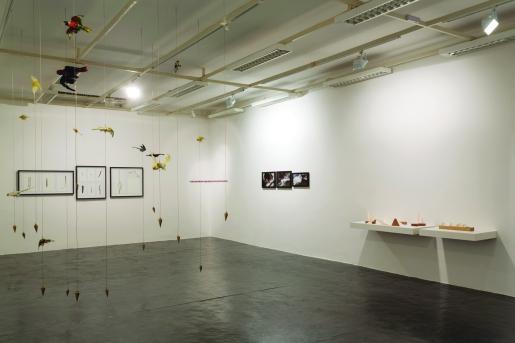 Luciana Kater, Exercícios para construir triângulos. Vista geral da exposição 22º Salão Anapolino de Arte, 2016
