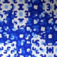 """Fabiana Preti . """"Azul"""", 2015 . acrílica sobre tela, 150 x 150 cm"""