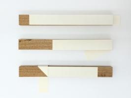 Luciana Kater, Nós, 2016. Papel e madeira, 35 x 45 cm