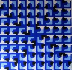 """Fabiana Preti . """"Grego"""", 2015 . acrílica sobre tela, 160 x 160 cm"""