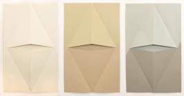 Luciana Kater, Sem Título, 2016. Papel, 110 x 60 cm (cada)