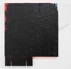 SANTACOSTA . Objeto de parede IV, 2015. Tinta à oleo, acrílica e placas de mdf sobre tela. 73 x 75 cm