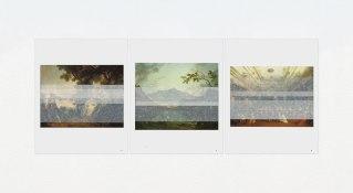 Marcelo Barros. Quotidianas, 2014. Série: Velaturas. Impressão jato de tinta sobre papel algodão. 30 X 42cm cada. Tríptico