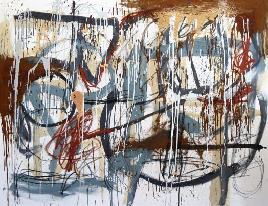Gabriel Nehemy, Cinza II, 2016, óleo e acrílica sobre tela, 140 x 180cm