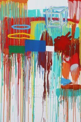 Gabriel Nehemy, Sem título, técnica mista sobre tela, 180 x 120cm